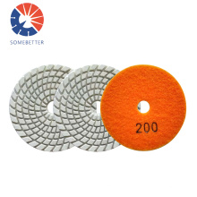 Factory Supply Triangle Electroplated Corner Wet Or Dry Diamond Steel Wool Polishing Pads