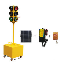 Luz de trânsito portátil para reparação temporária de estradas de 125 mm