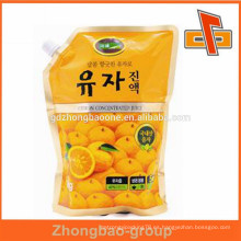 Bolsa de plástico bolsas personalizadas de grado alimenticio de plástico para el embalaje de bebidas líquidas