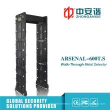 Porte de détecteur de métaux avec 24 zones Fonction de télécommande mobile