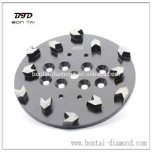 """Placa de disco de la cabeza de molienda de concreto de 10 """"para molino de piso Edco"""