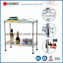 Assembler 2 rangées Chrome Mini Kitchen Spice Wire Rack pour la maison