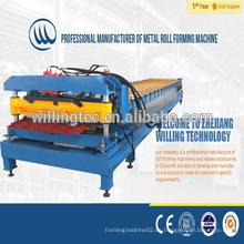 Qualität effiziente Schritt Farbe glasierte Fliesen Rollenformmaschine Preis für Dach