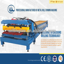 Qualidade eficiente passo cor azulejo azulejo rolo formando máquina preço para o telhado