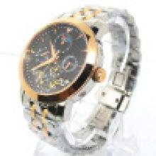 Relógio de pulso automático de aço inoxidável dos homens do relógio da forma