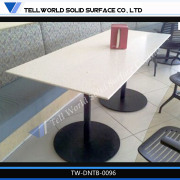 New Design 4 Seats Artificial Solid Surface Restaurant Equipment Fast Food Table