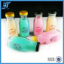 Contenedor de Alimentos 280ml 10oz Botella de Leche de Cristal Botella de Cristal de Yogur con Tapa de Metal
