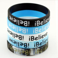 Promotion Gift Eco-Friendly Silicone Fashion Bangle with Debossed Logo
