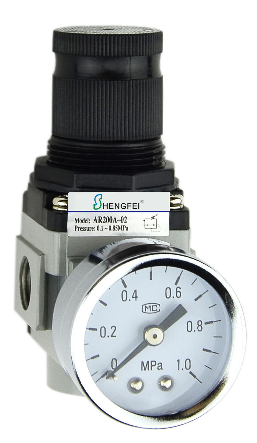"AR2000A-02 G1/4"" Air Regulator 22-123 psi"