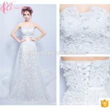 ОЕМ Союза мода с плеча кружева аппликация линия свадебное платье 2017