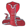 Red Snake Cobra Animal laser cut Horror Embroidery Patch