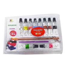 Conjunto de pintura de gouache pigmento para crianças