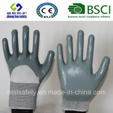 13G Polyester Shell With3/4 Nitrile Coated Work Gloves (SL-N116)