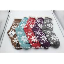 Schnee Muster gemütlich warmen Fuzzy Socken Frau Haus Socken mit Antikid
