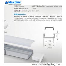 Perfil de alumínio de venda quente com a tampa de pressão para a tira do diodo emissor de luz