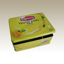 Rectangular Tea Tin Box--Eg. Lipton Tea Tin Box
