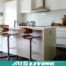 Cabinets de cuisine UV à lustre élevé avec la conception de coutume soutenant (AIS-K978)