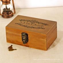 Cajas de almacenamiento de joyería de regalo marca FQ artesanal caja de joya de madera