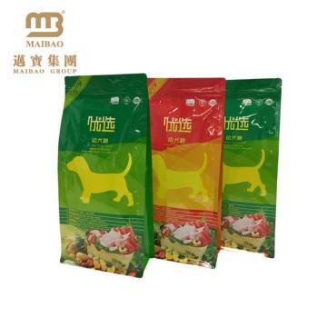 Sac d'emballage d'alimentation de bétail de catégorie comestible imprimé par conception vivante faite sur commande de logo avec la tirette pour l'alimentation de chien