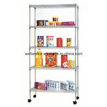NSF ajustable de 5 niveles de almacenamiento de metal de almacenamiento en rack de acero para la venta