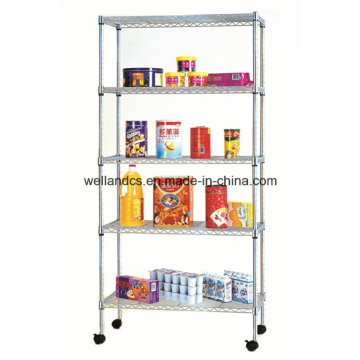 NSF Adjustable 5 Tier Metal Storage Steel Rack Shelf for Sale