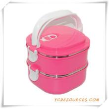 Heißer Verkauf Kunststoff Edelstahl Lunch Box für Werbegeschenke (HA62011)