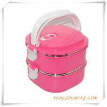 Hot Sale Plastic Stainless Steel Lunch Box for Promotional Gifts (HA62011)