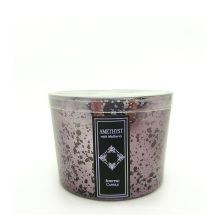Manufacturer Personalized Organic Soy Wax Scented Glass Candle For Decoration