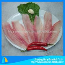 Tilápia de filé de peixe congelado