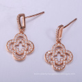 dubai style brass jewelry sets earrings with cubic zirconia 925 for woman