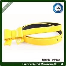 skinny pu leather belt ladies' pu studded belt yellow belt