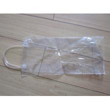 Bolsa de vinho transparente PVC Tote com alças de tubo (hbpv-63)