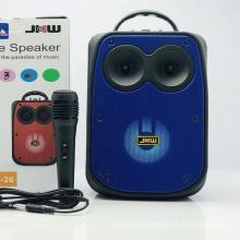 CS-26 Speaker Outdoor Portable Trolley Speaker DJ Speaker System Subwoofer Sound Box With LED Light