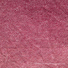 Linen Knitted Printed Fabric (QF15-2384)