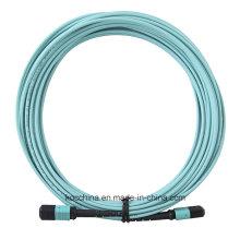 MTP MPO Om3 Aqua 12cores Fiber Optic Patchcord