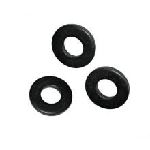 Черные простые плоские шайбы с плоским уплотнением