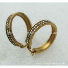 2013 Fashion earring gold earrings design diamond earring