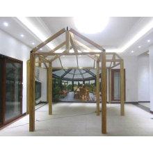 Sala solar de aluminio en espiga con vidrio laminado templado (FT-S)