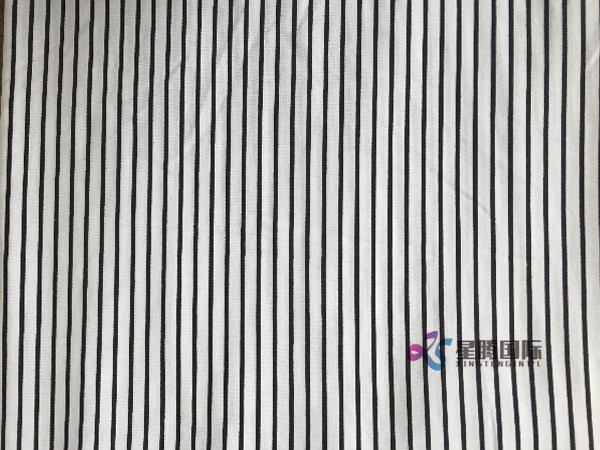 Classic Design Stripe Rayon Fabric