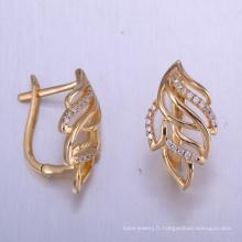 Boucles d'oreilles uniques de zircone cubique de découvertes de bijoux de la Chine avec l'or plaqué