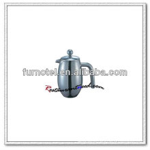 T160 Double Ply Stainless Steel Convex Body Tea Pot
