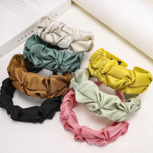 Solid Fabric Folds Hairband for Women Girl Fashion Hair Accessories Wide Headband Dropshipping Wholesale