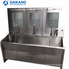 SKH036-3 Clinical Washing Sink With Hot Water System For Hospital
