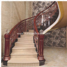 Interior Luxury Aluminum and Copper Stair Handrails