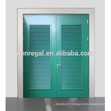 RAL Color Glavanized louver Steel metal Door