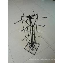 Schuhe Einzelhandel Shop Metalldraht Display Rack für hängende Artikel 3-Layer Bodenbelag drehbare Sock Display