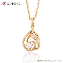 Vendas Hot Elegante CZ Vidro Rose Banhado A Ouro-Imitação de Moda Jóias Pingente-30947