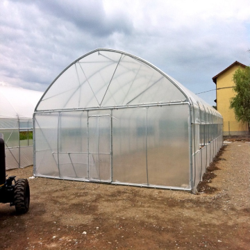 Galvanized material Frame single-span arch tunnel greenhouse
