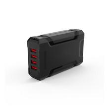 38 Watt 4 USB Port Portable/Desktop Fast Mobile Phone Charging Station,CB, FCC,RoHS