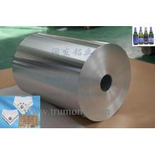 Feuille en aluminium pour panneau composite, bobine revêtue de couleur